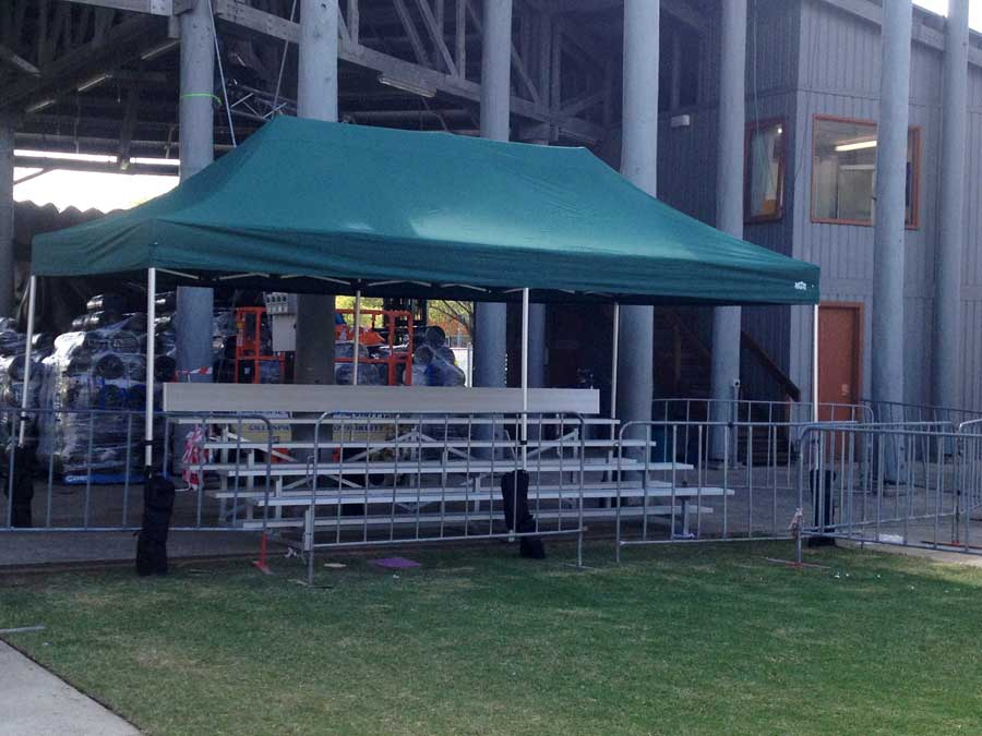 The Royal Easter Show 2014 Woodchop Arena Stand with Canopy